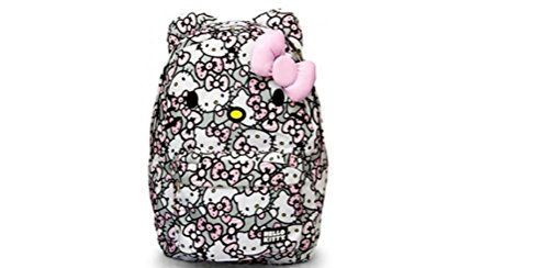 HELLO KITTY PINK/GREY/WHITE ALL OVER PRINT BACKPACK with 3D Pink Bow -