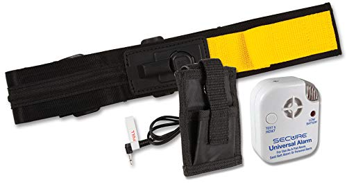 Wheelchair Seat Belt Alarm - Secure Wheelchair Seat Belt Alarm Set for Fall Management and Wandering Prevention - Includes Quick Release Non Restraint Seat Belt, Patient Alarm Monitor, Holder and Batteries