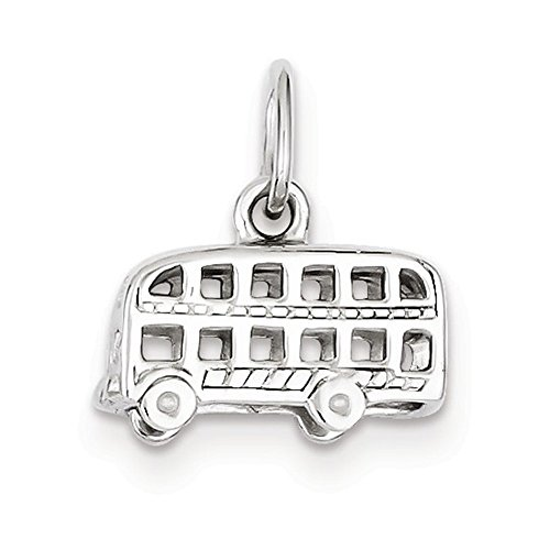 Jewelry Adviser Charms Sterling Silver London Bus Charm