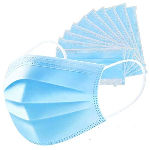 Yutown 50 Pcs Filter 3-ply Disposable Face Mask Personal Protection Dust-proof Anti Spittle Eye Mask for Earloop, 1count