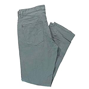 Men's Calvin Klein Slim Straight Cotton Twill Jeans Pants (38W x 34L, Grey Dream)