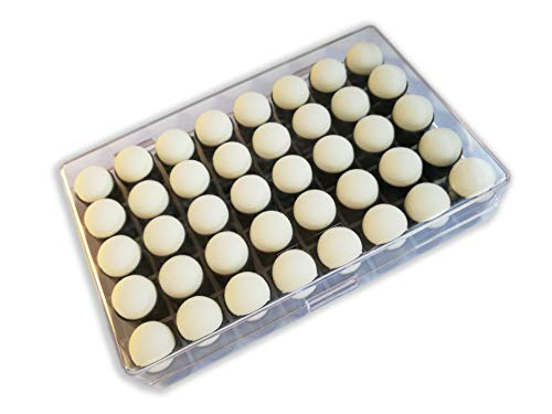 Actopus 40pcs Finger Sponge Daubers with Box for Drawing Craft Painting Supplies