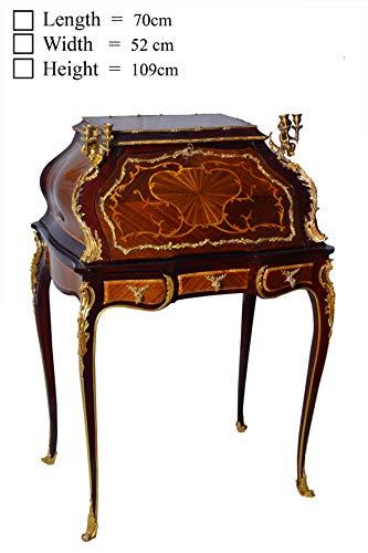 (Fine Louis XV Style Gilt Bronze Mounted Bureau de Dame Desk )