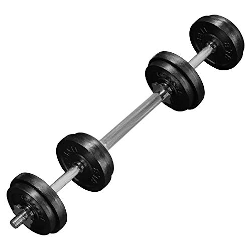 Yes4All Adjustable Dumbbells with Dumbbell Bar Connector - 60 lb Dumbbell Weights (30 lb x 2)