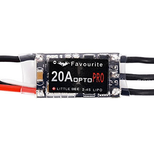 (OLD TEUCER Mini 20A 2-4S LiPo Battery OPTO PRO ESC Brushless Speed Controller for QAV250 )