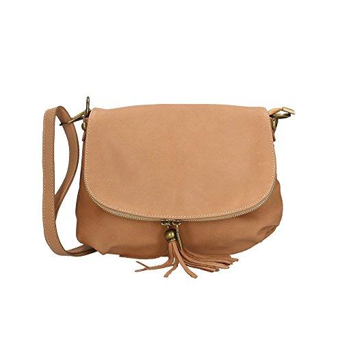 Cm femme Ancienne Rose fabriqué cuir en véritable en italie Aren 28x22x5 pour sac d'épaule wCqC4PH