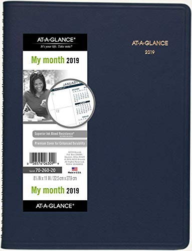 - AT-A-GLANCE Monthly Planner, January 2019 - March 2020, 8-7/8