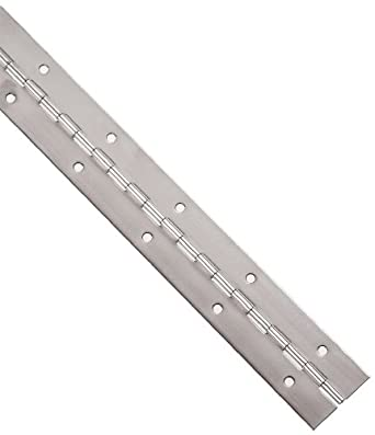 """Industrial Grade Stainless Steel Piano Hinge 1/"""" x 1/""""x 3//16/"""" x 18/"""" x 1//4/"""" Pin"""