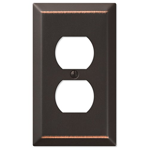 Oil Rubbed Bronze - Traditional Design Single Duplex Wall - Covers Switchplates Outlet And