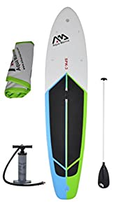 """Inflatable 10' 10"""" (6"""" Thick) SUP Stand Up Paddle Board with Pump & Paddle by Aqua Marina"""
