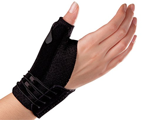 (Futuro Deluxe Thumb Stabilizer, Improves Stability, Moderate Stabilizing Support, Small/Medium, Black )