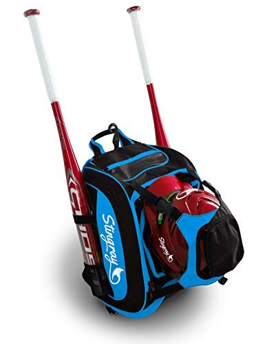 f4392a9b2b Amazon.com   Baseball Bag by Stingray (Light Blue)   Sports   Outdoors