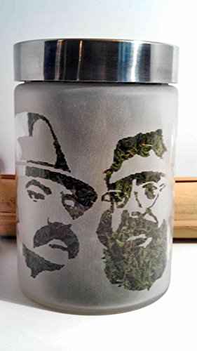 Twisted420Glass Cheech & Chong Collectible Edibles Canister & Herb Stash Jar