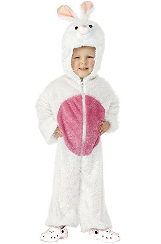 [Mememall Fashion Brand New White Bunny Jumpsuit Child Halloween Costume (Small)] (Latex Wolf Suit)
