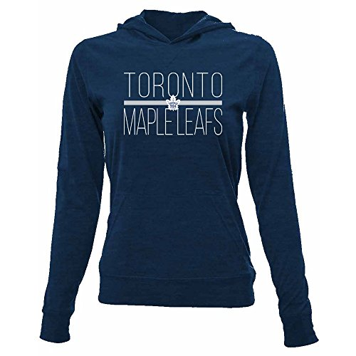NHL Toronto Maple Leafs Women's Recovery Line Em Up Pullover Hooded Mid-Layer Apparel, Medium, Solid Navy