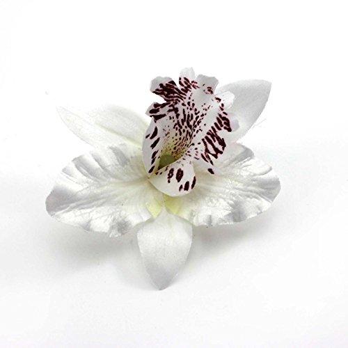 Clip nuptiale fleur de mariage tissu dendrobium orchidée cheveux barrette