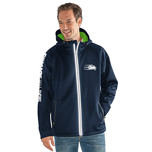G-III Sports by Carl Banks Adult Men Motion Full Zip Hooded Jacket, Navy, 5X