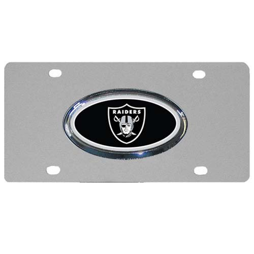 NFL Oakland Raiders Steel License Plate with Raised Logo Logo License Plate Nfl Football