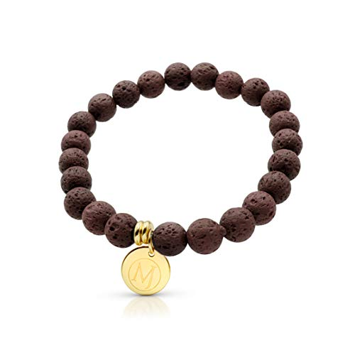 Molten Jewel Essential Oil Bracelet, Anxiety Bracelet, Aromatherapy Bracelet, Lava Stone Bracelet, Essential Oil Diffuser Bracelet for Anxiety & Bracelet for Men & Women and Mens Bracelet