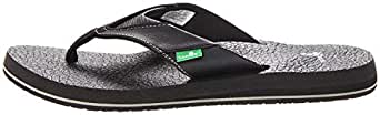 Sanuk Men's Beer Cozy Flip-Flop Black Size: 8