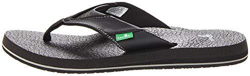 Sanuk Women's Yoga Mat Wedge Flip-Flop (44 M EU / 11 D(M) US, Black) Beer Flip Flops Sandal