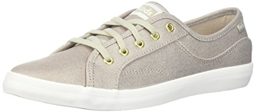 Keds Women's Coursa Metallic Sneaker, Gold, 5.5 M US