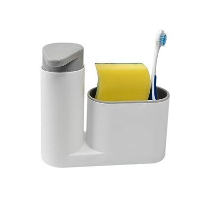 Kitchen Sink Organizer | Homee Sink Caddy Kitchen Sink Organizer Holder With Countertop Soap Pump Dispenser And Sponge Drainage Soaps Holder