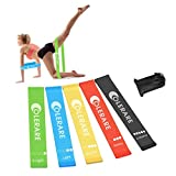 Colerare Resistance Loop Exercise Bands for Home Fitness, Stretching, Strength Training, Physical Therapy, Natural Latex Workout Bands,Crossfit, Pilates Flexbands,Set of 5 For Sale