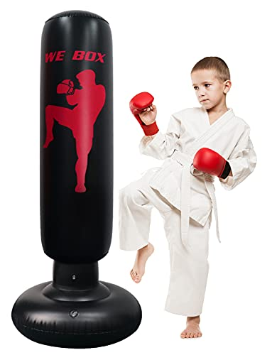 Punching Bag, 63inch Karate Practice Bag for Kids and Adults, Freestanding Boxing Bag Fitness Punching Bag MMA