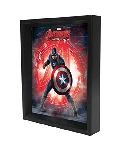 Captain America Age of Ultron Logo Framed Shadow Box 3D Poster 8x10 inch