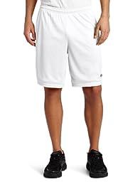 Champion Men\'s Long Mesh Short with Pockets,White,Medium