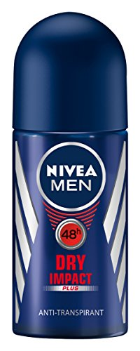 Nivea Men Deo Dry Impact Plus Deoroller, Antitranspirant, 6er Pack (6 x 50 ml)