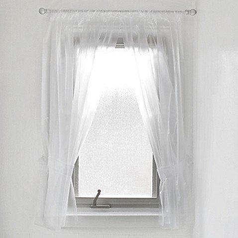 amazon com vinyl bathroom window curtain in frost clothing rh amazon com vinyl bathroom shower window curtains walmart vinyl bathroom window curtains