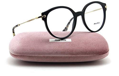 Miu Miu SMU 04PV Women Eyeglasses (Black Frame 1AB1O1, - Miu Glasses Reading Miu