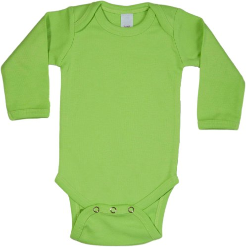 Baby Milano Lime Onesie Long Sleeve]()