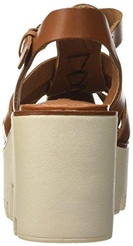 Fluffy Tan Cinturino la Windsor Dietro Smith Donna Tacco col con Scarpe Marrone Caviglia qW5765HO
