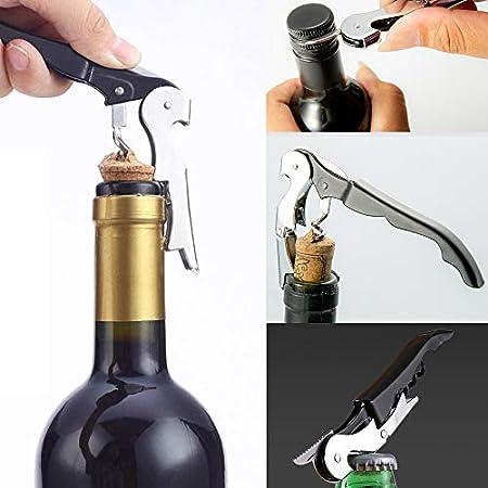 Set de 3 abrebotellas de vino Abrebotellas con bomba de presión de aire Bomba de vacío Wine cortador de papel de aluminio para Bar Home Kitchen