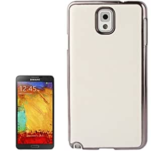 Crazy Horse Texture Encrusted Skin Plating Plastic Case for Samsung Galaxy Note 3 / N9000 (White)