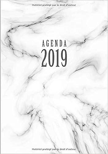 Agenda: Semainier - Petit Format A5 - Marbre Blanc Noir ...
