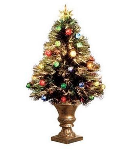Amazon.com: Celebrations Fiber Optic Christmas Tree Gold 3 ...