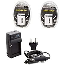 TWO NP-60 NP-60DBA Batteries + Charger for Casio EX-FS10, Casio EX-S10, Casio EX-S10A, Casio EX-S10BE