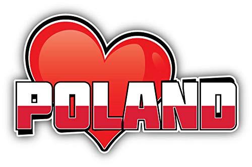 Art Sticker Bumper - KW Vinyl Magnet Poland Art Heart Flag Travel Slogan Truck Car Magnet Bumper Sticker Magnetic 5