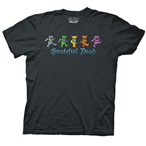 Grateful Dead Dancing Bears Men's Charcoal T-shirt XL