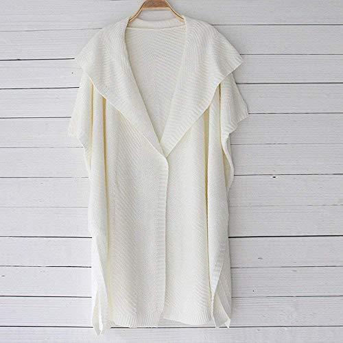 La Beige Las Chaqueta Del Ropa Gran Oudan Suéter Abrigo Tamaño Lotes Manga Tops Exterior Camiseta Mujeres Capa Sólido Señoras Punto De Blusa Larga 06HqEB