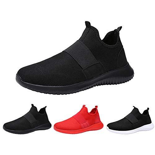 ANTETOKUPO Mens Athletic Walking Gym Shoes Comfortable Sports Tennis Lightweight Breathable Running Sneakers Shoes Men (12, Black-C)