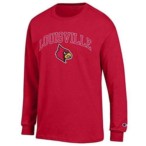 Elite Fan Shop Louisville Cardinals Long Sleeve Tshirt Varsity Red - L (Louisville Cardinals Fan)