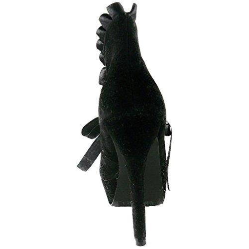 CLAISSA 517 Womens Ellie Black Bootie Ellie Shoes Shoes wIqXXP