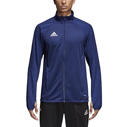 Football Training Jacket (Adidas Tiro 17 Mens Soccer Training Jacket L Dark Blue-Dark Grey-White)