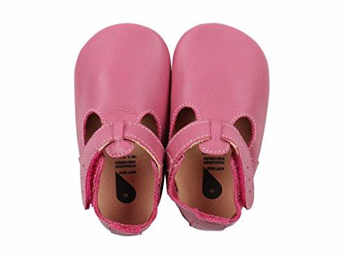 BOBUX 4302 Baby Krabbelschuhe T-Bar Sandale rosa Gr.: L (15-21 Monate)