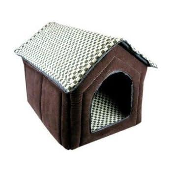 Amazoncom super nice brown indoor soft dog house pets for Soft indoor dog house large